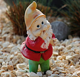 gnome ceramic figurine