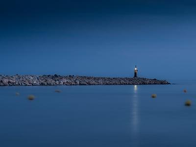 landscape photography of lighthouse