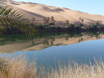 landscape photography body of water near dessert