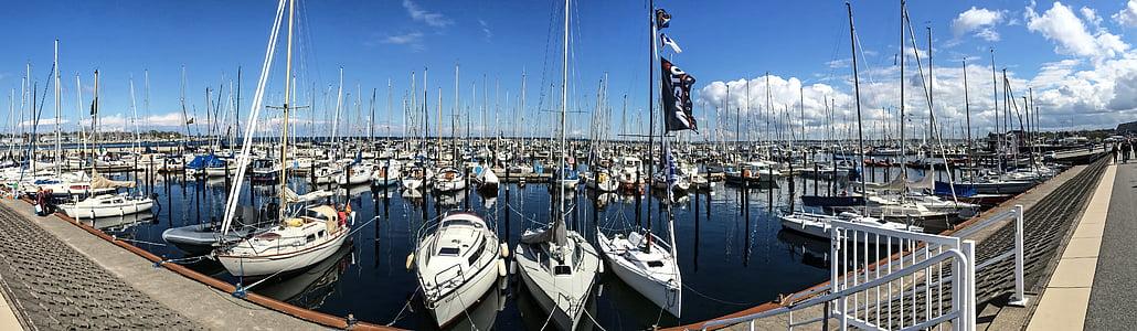 marina, sailing port, sailing boats, sailing yachts, schilksee, kiel