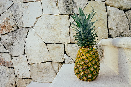 pineapple fruit on stairs