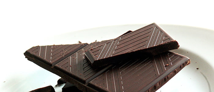 chocolate bar on white surface