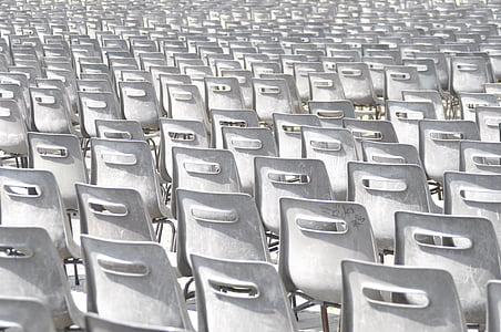 white steel chair lot