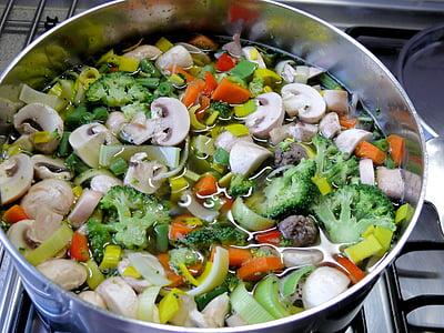 mushroom and broccoli soup