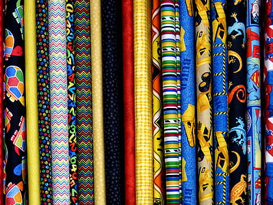 close-up of assorted-color textiles
