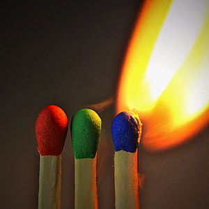 three match sticks