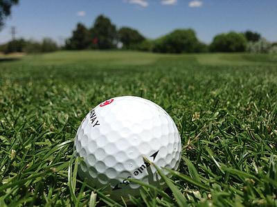 golf ball on green grass field