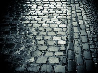 grey brick floor