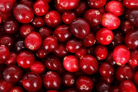 close-up of a pile of red fruits