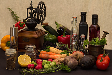 variety of vegetables and fruits