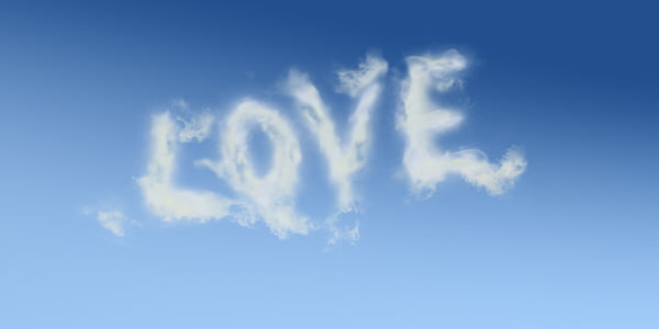 white smoke love sign