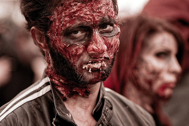 zombie in black top