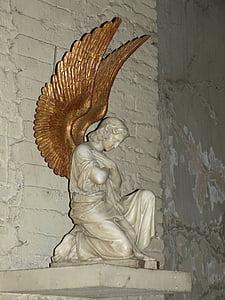 statue, figure, sculpture, angel, church, faith