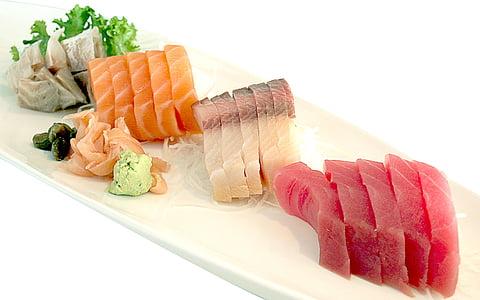 assorted sashimi dish