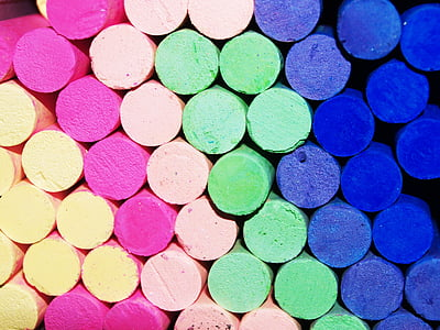 assorted color of chalks