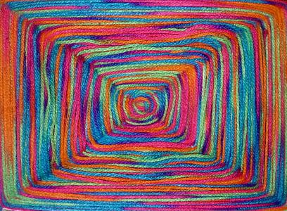 multicolored strings