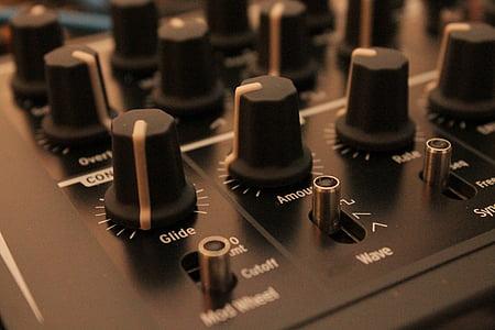 shallow focus photo of audio mixer