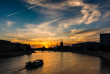 cityscapes and boat scenery