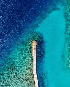aerial photo of sea