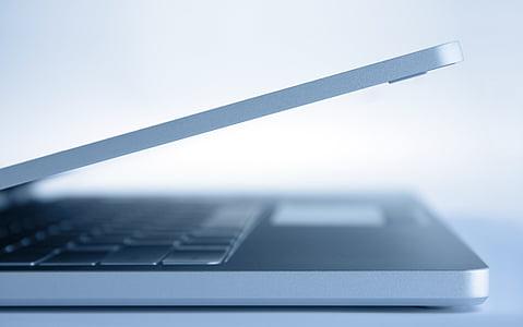 silver laptop computer