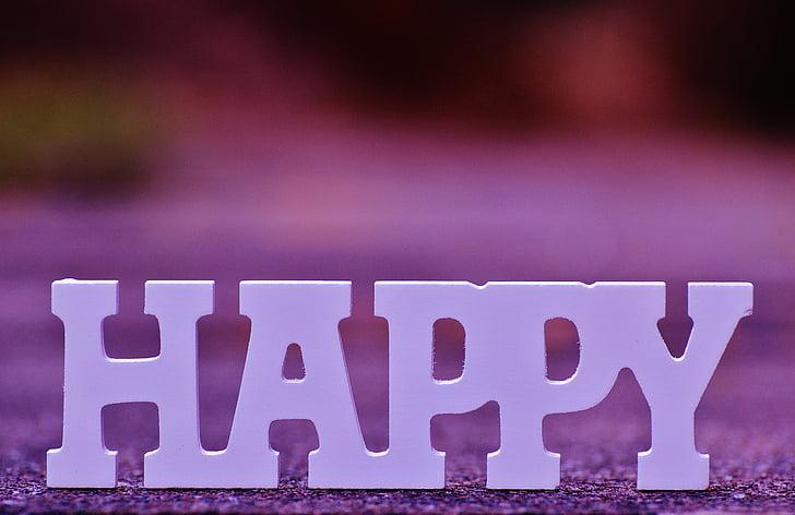 white wooden happy freestanding letter decor