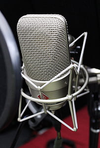 closeup photo of condenser microphone