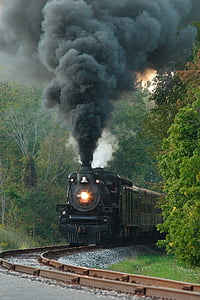 vintage charcoal train on railroad