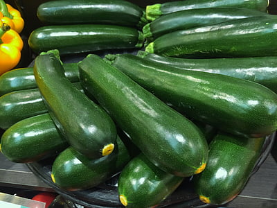 cucumbers in tray