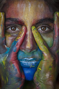 woman's face with painting