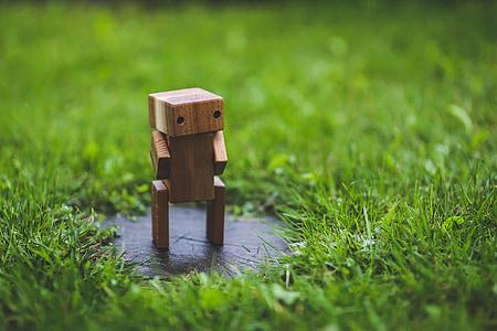 brown wooden figurine