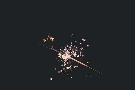 burned sparkler