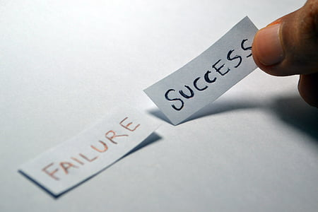 failure and success text showing in papers