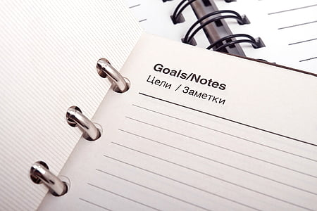 goals/notes notebook