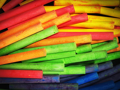 green, red, blue, purple, and yellow wooden sticks