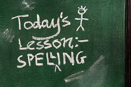 today's lesson spelling text