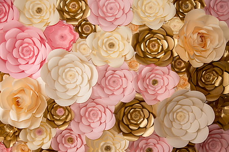 assorted-color flowers wallpaper