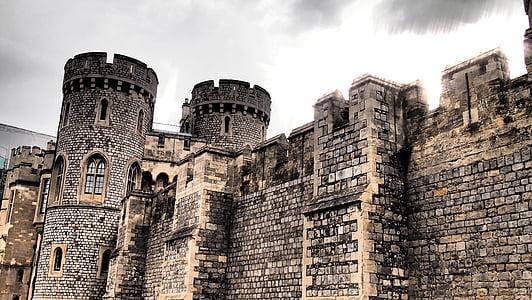 black concrete castle
