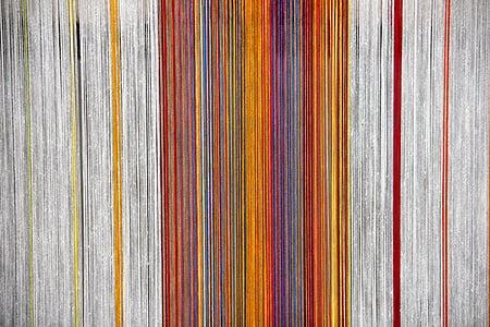 photo of orange and multicolored striped colors digital wallpaper