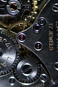 closeup photography of silver gears