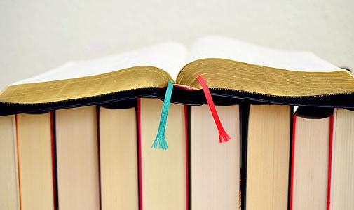 black open book