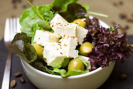 photo of vegetable salad with tofu