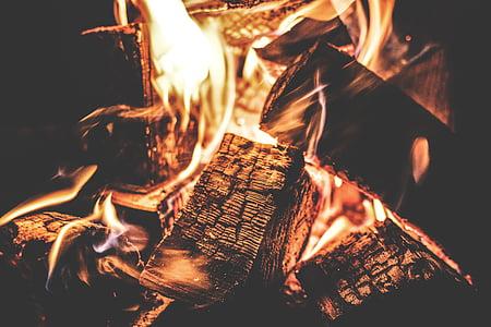 close up photography of bonfire