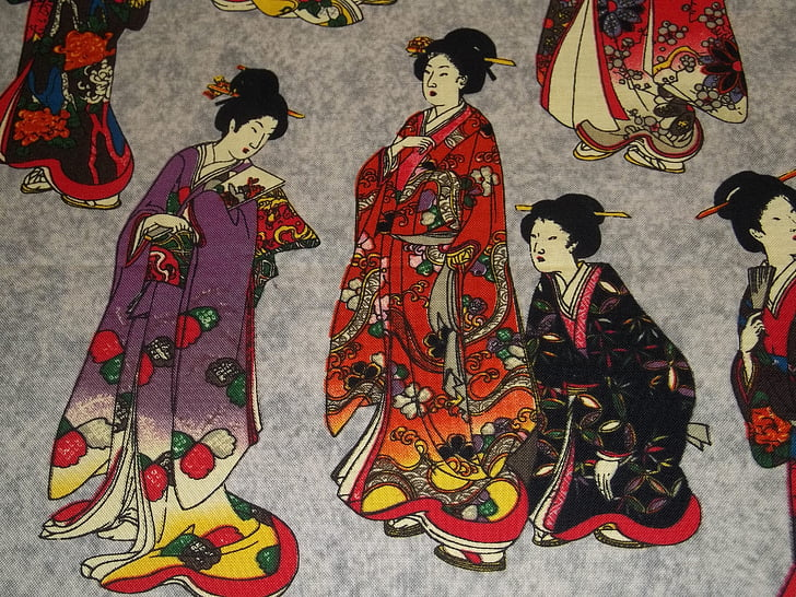 Royalty-Free photo: Geisha paintings | PickPik