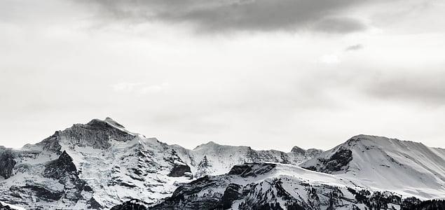 white snowy mountain