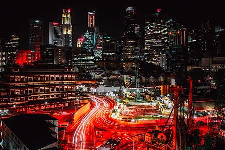 timelapse photo of city