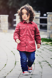 children's red dress shirt