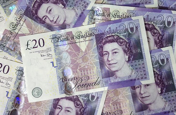 20 England pounds lot