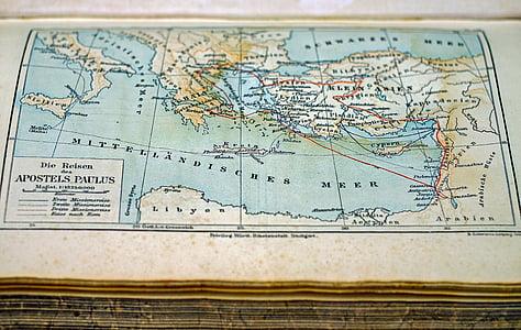 Apostels Paulus map