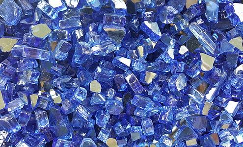 close up photograph of blue gemstone lot