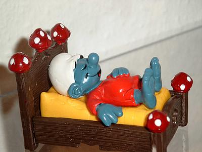 Smurfs character sleeping figurine
